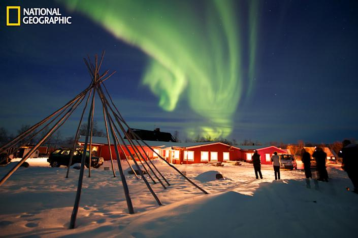 """We were lucky enough to witness some very early auroras over the Abisko Mountain Lodge on March 1. The skies were clear with only wispy clouds interfering come nighttime. As soon as the stars started to appear the aurora showed her face. She was off and on all night but nothing compared to the early show! These aurorae were the result of a coronal wind stream that arrived at Earth on February 28. It caused geomagnetic storms that lasted for a few days. (We were lucky enough to witness some very early auroras over the Abisko Mountain Lodge on March 1. The skies were clear with only wispy clouds interfering come nighttime. As soon as the stars started to appear the aurora showed her face. She was off and on all night but nothing compared to the early show! These aurorae were the result of a coronal wind stream that arrived at Earth on February 28. It caused geomagnetic storms that lasted for a few days. (Photo and caption Courtesy Natalia Robba / National Geographic Your Shot) <br> <br> <a href=""""http://ngm.nationalgeographic.com/your-shot/weekly-wrapper"""" rel=""""nofollow noopener"""" target=""""_blank"""" data-ylk=""""slk:Click here"""" class=""""link rapid-noclick-resp"""">Click here</a> for more photos from National Geographic Your Shot."""