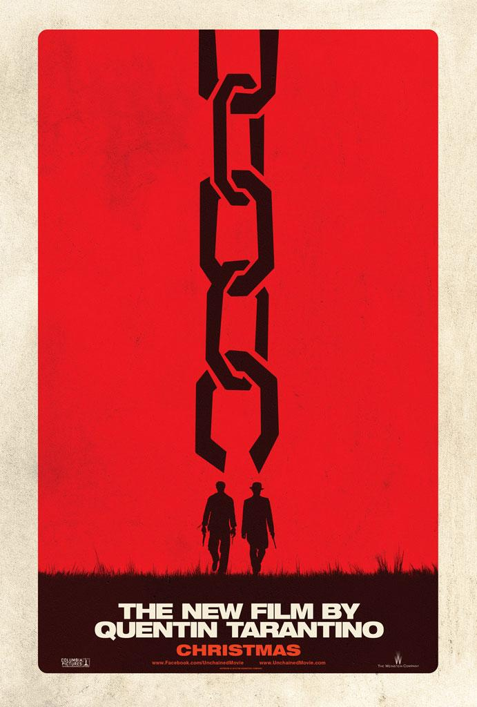 """The first teaser poster for The Weinstein Company's """"<a href=""""http://movies.yahoo.com/movie/django-unchained/"""" data-ylk=""""slk:Django Unchained&quot;"""" class=""""link rapid-noclick-resp"""">Django Unchained""""</a>, the next film from director Quentin Tarantino starring Jamie Foxx, Christoph Waltz, Samuel L. Jackson, Kurt Russell and Leonardo DiCaprio."""