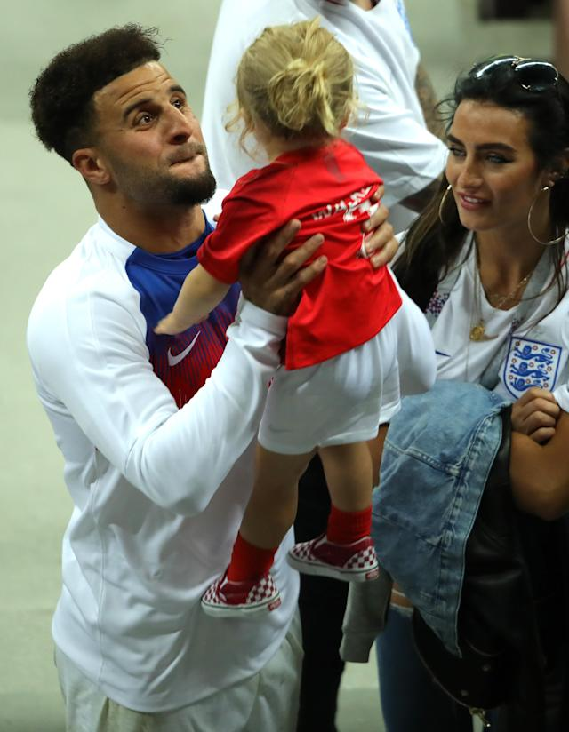 <p>Kyle Walker's daughter managed to lift his spirits. </p>