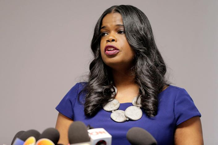 Cook County State's Attorney Kim Foxx at a news conference in Chicago on Feb. 22, 2019.