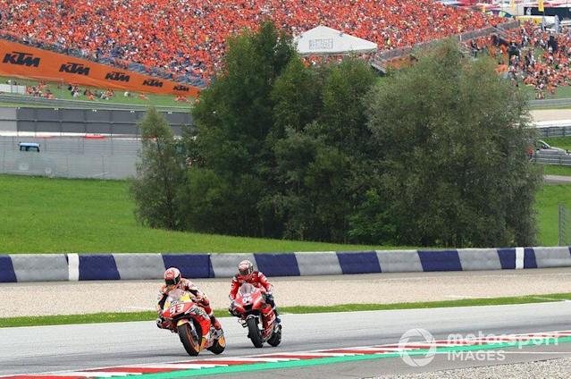 "Marc Márquez, Repsol Honda Team, Andrea Dovizioso, Ducati Team <span class=""copyright"">Gold and Goose / LAT Images</span>"