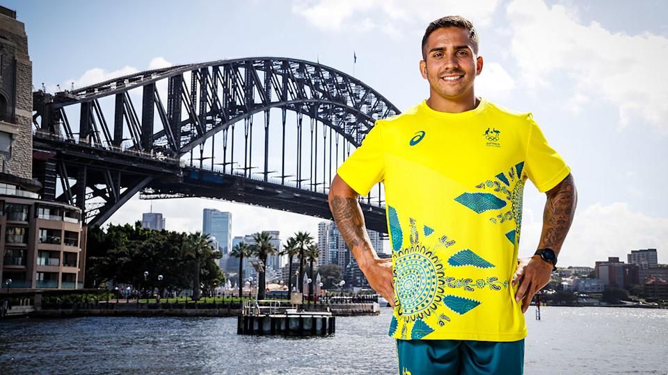 Maurice Longbottom, pictured here during the Australian Olympic Team's uniform unveiling.