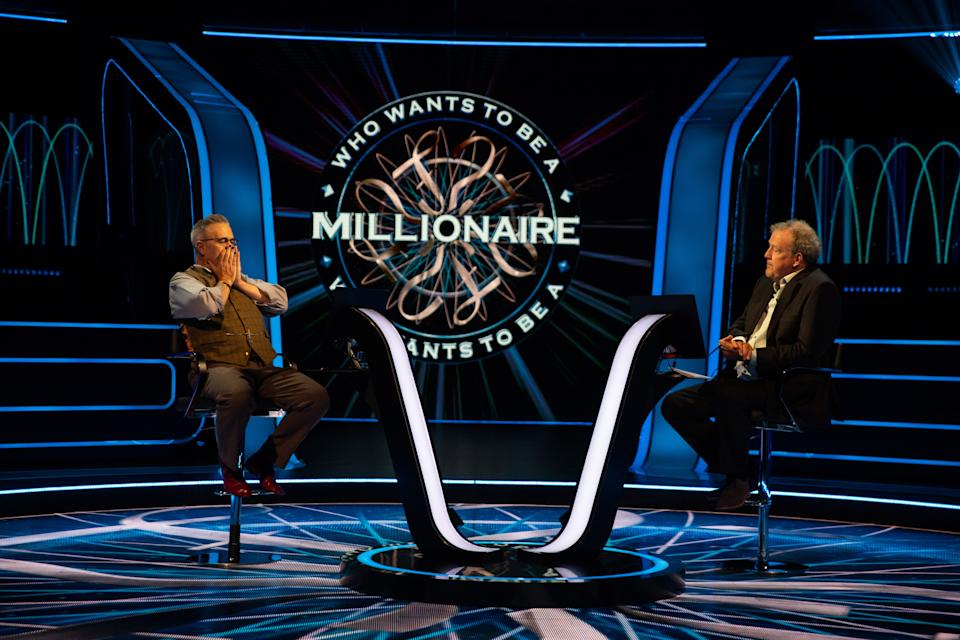 Justin Beattie and Jeremy Clarkson on Who Wants to Be a Millionaire?. (Stellify Media)