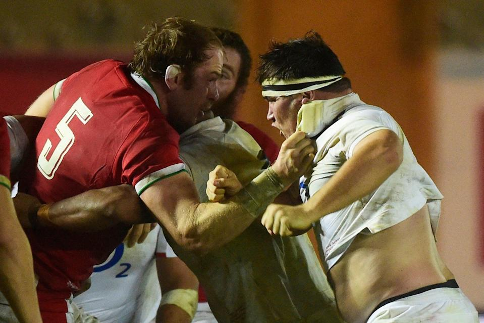 <p>Fight: Wales lost to England</p> (REUTERS)