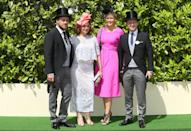 <p>The TV presenters were suited and booted and accompanied by their wives for the 2016 event.<br><i>[Photo: PA]</i> </p>