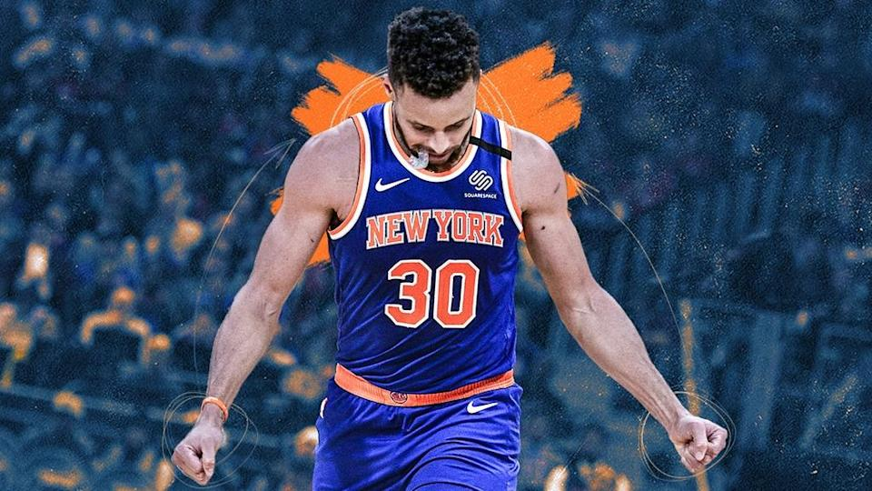 Steph Curry Knicks jersey swap