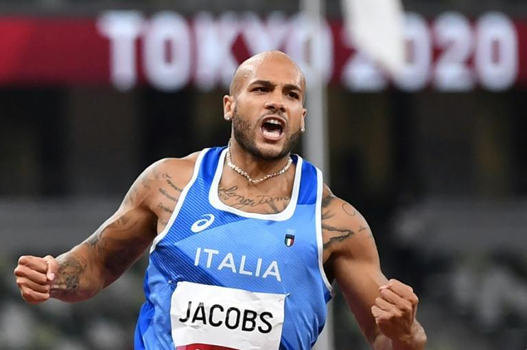 Italy's Lamont Marcell Jacobs pulled off a surprise victory in the Olympic 100 metres