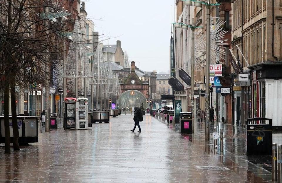 Footfall in Scotland was down by a fifth in September (Andrew Milligan/PA) (PA Archive)