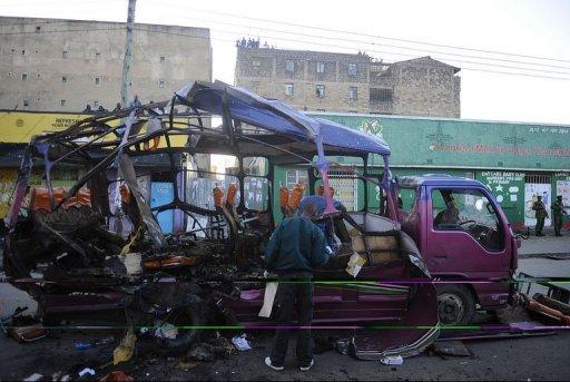 A bus bombing on Sunday killed seven and wounded many more