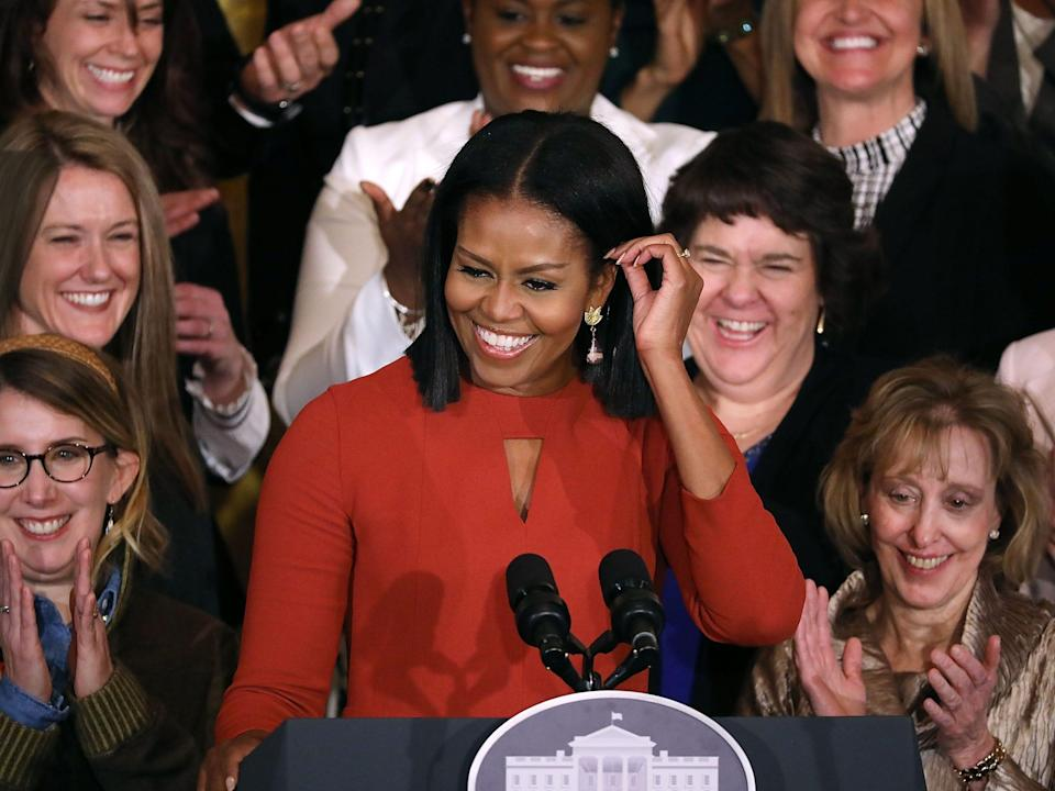 michelle obama red dress last speech as first lady