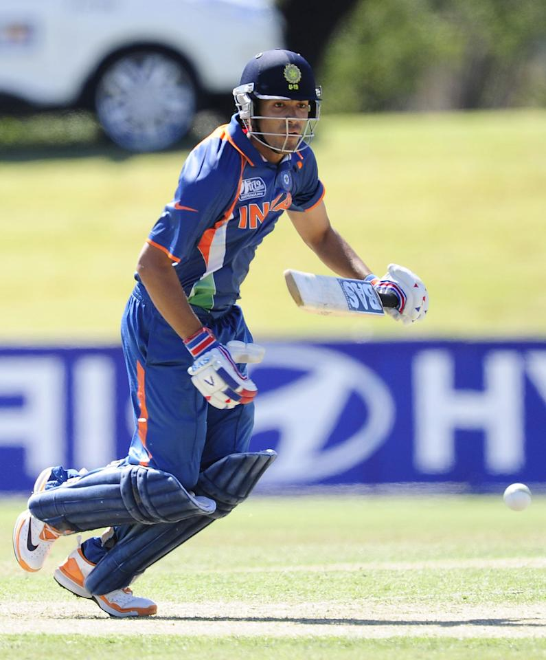 TOWNSVILLE, AUSTRALIA - AUGUST 14:  Prashant Chopra of India bats during the ICC U19 Cricket World Cup 2012 match between India and Zimbabwe at Tony Ireland Stadium on August 14, 2012 in Townsville, Australia.  (Photo by Ian Hitchcock-ICC/Getty Images)