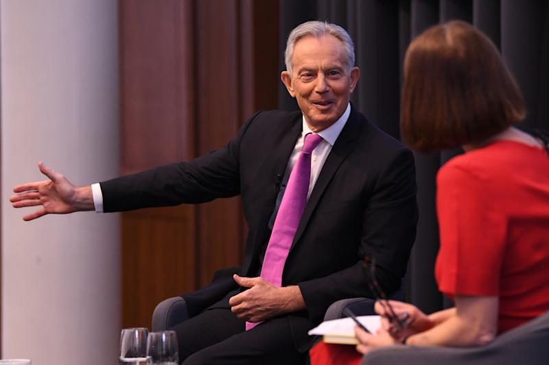 Former prime minister Tony Blair during a speech to mark the 120th anniversary of the founding of the Labour party, in the Great Hall at King's College, London. (Photo by Stefan Rousseau/PA Images via Getty Images)