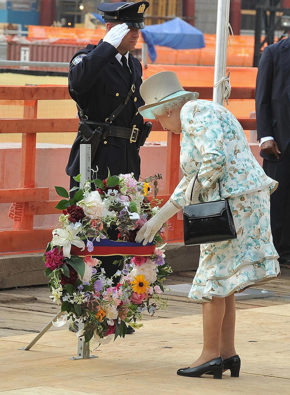 <p>The monarch also paid her respects at the World Trade Center. </p>