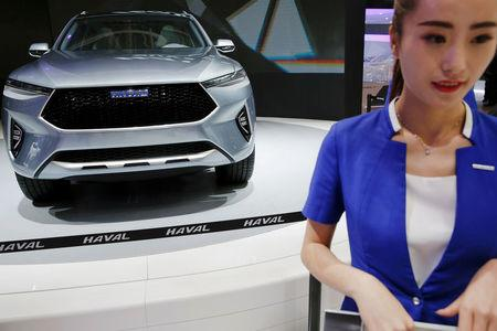 FILE PHOTO: A Great Wall Motors Haval HB-02 concept vehicle is presented during the Auto China 2016 auto show in Beijing
