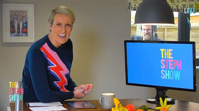 steph-filming-desk