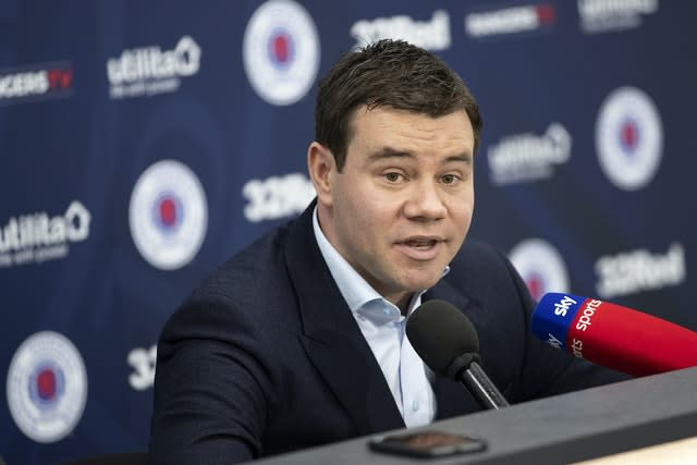 Ross Wilson joined Rangers as sporting director last year (Kirk O'Rourke/PA)