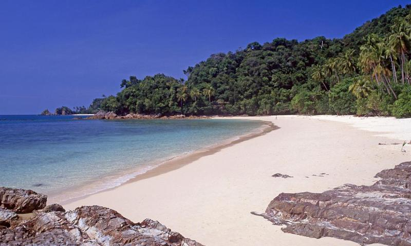 A beach on Pulau Kapas.