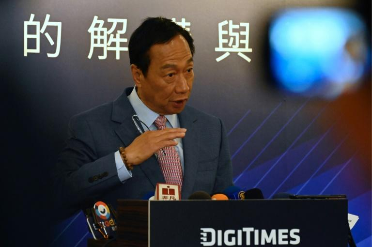 Terry Gou, the founder of Taiwan's Foxconn seen here in June 2019, has decided against an independent run for the island's presidency