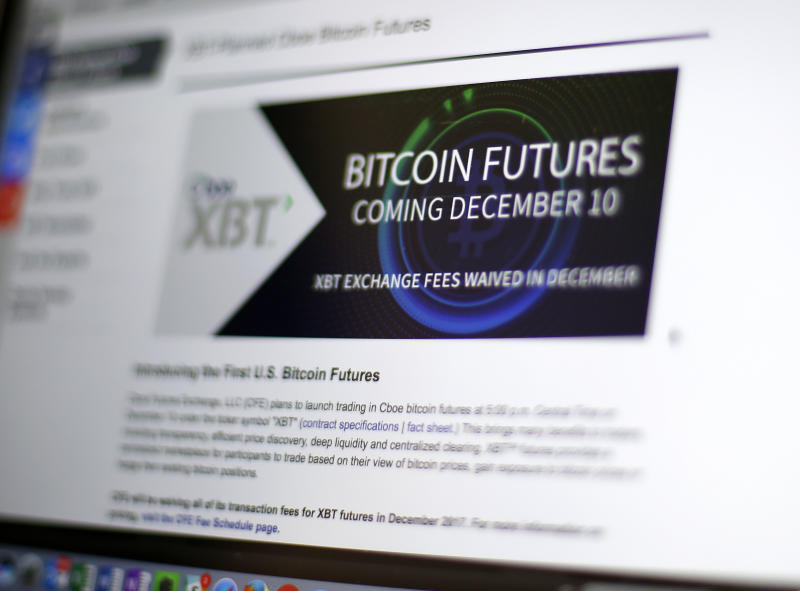 Bitcoin futures soar amid frenzy over virtual currency