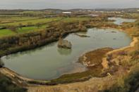 View of the nature reserve originally created from a restored sand extraction site
