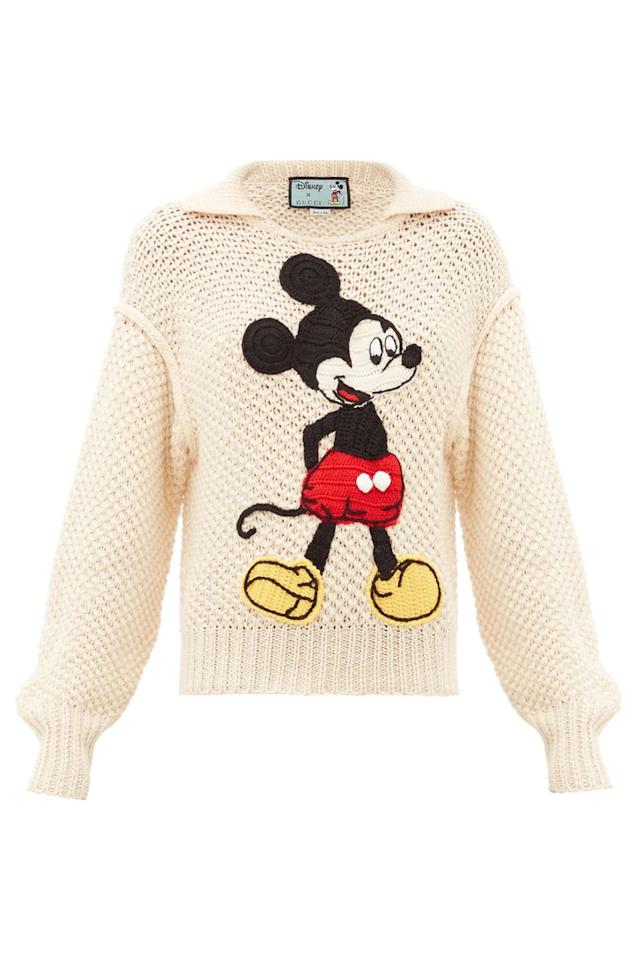 """<p><a class=""""body-btn-link"""" href=""""https://go.redirectingat.com?id=127X1599956&url=https%3A%2F%2Fwww.matchesfashion.com%2Fproducts%2FGucci-Mickey-Mouse-crochet-appliqu%25C3%25A9-wool-sweater-1320347&sref=https%3A%2F%2Fwww.harpersbazaar.com%2Fuk%2Ffashion%2Fwhat-to-wear%2Fg33924992%2Fcrochet-trend%2F"""" target=""""_blank"""">SHOP NOW</a></p><p>Gucci has put a very fun spin on the crochet knit with this Mickey Mouse style.</p><p>Jumper, £1,350, Gucci at <a href=""""https://go.redirectingat.com?id=127X1599956&url=https%3A%2F%2Fwww.matchesfashion.com%2Fproducts%2FGucci-Mickey-Mouse-crochet-appliqu%25C3%25A9-wool-sweater-1320347&sref=https%3A%2F%2Fwww.harpersbazaar.com%2Fuk%2Ffashion%2Fwhat-to-wear%2Fg33924992%2Fcrochet-trend%2F"""" target=""""_blank"""">Matches Fashion</a></p>"""