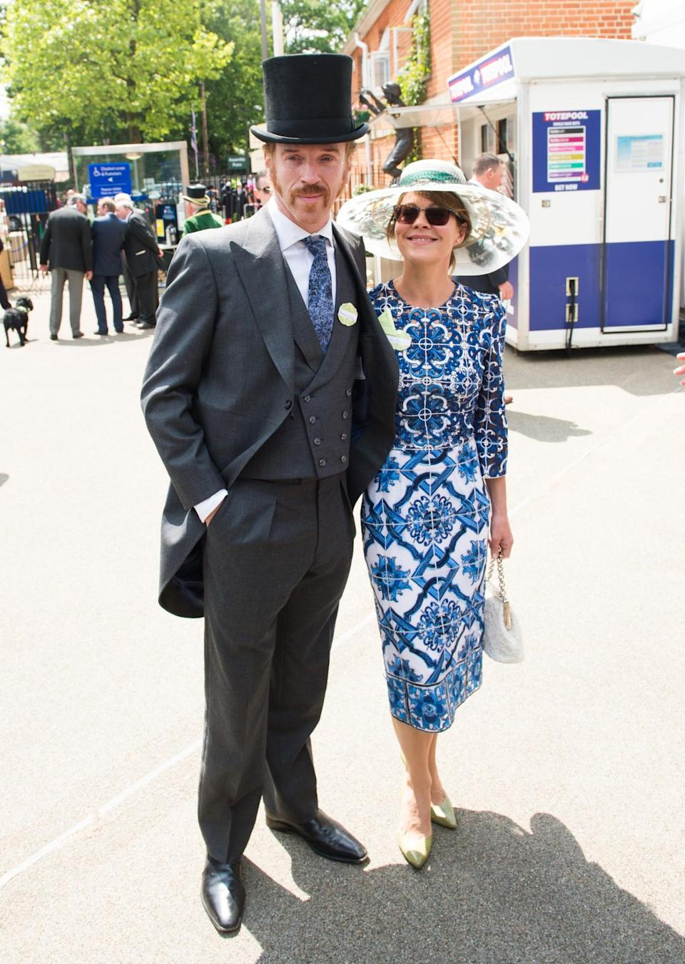 <p>The acting couple smartened up in 2015 with Damian in full Victorian gear and Helen in a pretty printed style.<br><i>[Photo: PA]</i> </p>