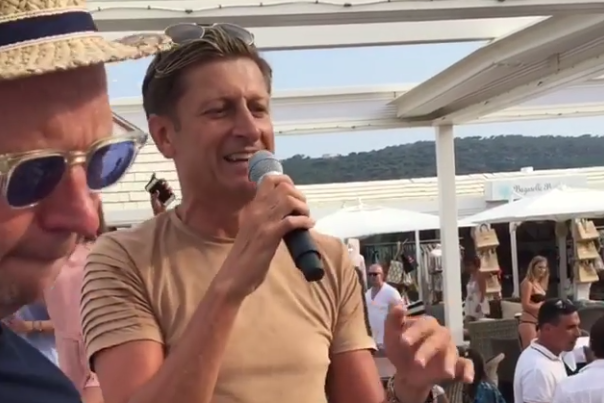 Crystal Palace chairman Steve Parish raps on holiday... and he's pretty good