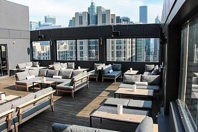 The Cambria Chicago Magnificent Mile features one of the highest rooftop lounges in the city, 52Eighty.