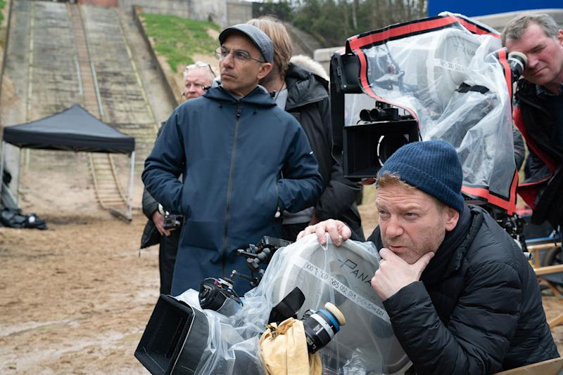 Kenneth Branagh directing on the set of <i>Artemis Fowl</i> (Disney)