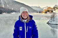"""<p><strong>Age: </strong>27</p><p><strong>Hometown:</strong> Peru, VT</p><p><strong>Event:</strong> Cross-Country Skiing</p><p>Even when she's not tackling long distances on snow, Sophie Caldwell is moving — working on her strength via weight lifting, plyometrics and core exercises at the gym. With all that activity, nutrition is immensely important to keep her on top of her game. """"I burn through a lot of fuel between training, racing and being in cold temperatures, and if I struggle with anything it's finding a way to get enough food,"""" she says.</p>"""