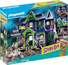 "<p><strong>PLAYMOBIL</strong></p><p>amazon.com</p><p><strong>$99.99</strong></p><p><a href=""https://www.amazon.com/dp/B081HQ3JBF?tag=syn-yahoo-20&ascsubtag=%5Bartid%7C10055.g.4695%5Bsrc%7Cyahoo-us"" rel=""nofollow noopener"" target=""_blank"" data-ylk=""slk:Shop Now"" class=""link rapid-noclick-resp"">Shop Now</a></p><p>You can expect spooky surprises and a ton of mystery in this playset. When you pair the game with the Playmobil app, <strong>holographic ghosts can be projected</strong> on the ground floor. </p>"