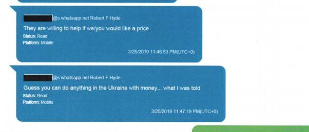 Hyde apparently had contacts in Kyiv who were willing to track Yovanovitch for money. (Photo: HuffPost US)
