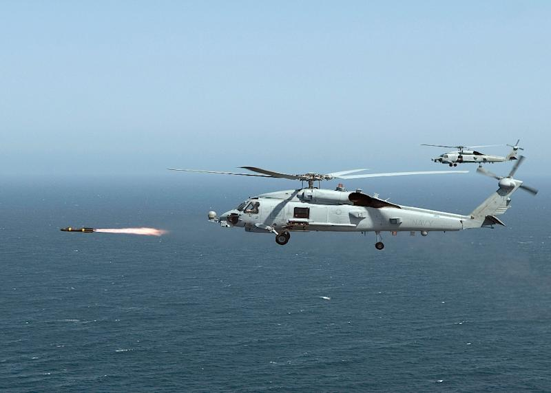 US Hellfire missile is commonly fired at ground targets from a helicopter or a drone and has been in service since 1984