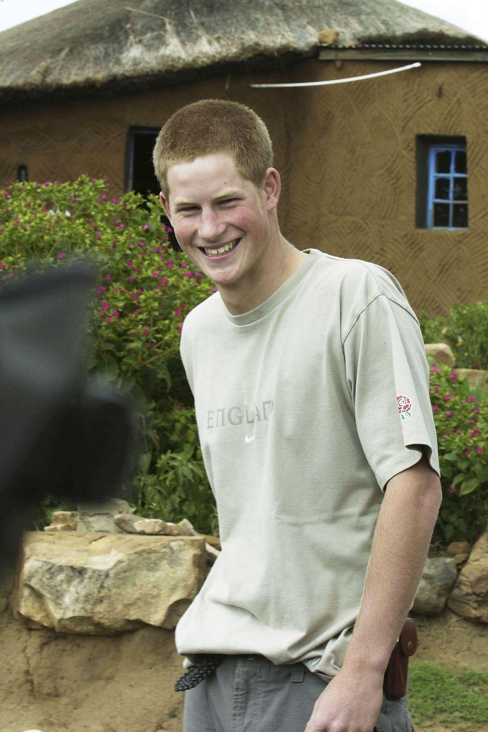 <p>Harry laughs at the Mant'Ase children's home near Mahles Hoek in Lesotho.</p>