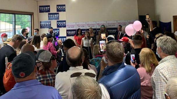 PHOTO: A photo from a Women for Trump tour in Gorham, Maine, posted to Twitter on July, 22, 2020 (Kiera Wainer/Twitter)