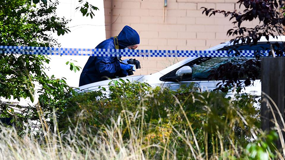 A suburban street in Canberra will remain locked down for 24 hours while police establish the scene of a crime which reportedly left one man dead and three other people badly injured. Source: AAP