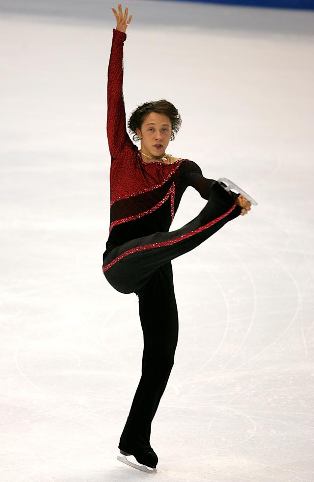 Competing in the men's short program during the State Farm U.S. Figure Skating Championships at the Rose Garden on Jan. 13, 2005, in Portland, Oregon.