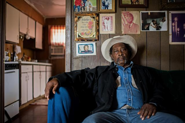 <p>Cowboy Frank Simpson poses for a portrait at home in Shelby, Miss., November 2017. (Photograph by Rory Doyle) </p>