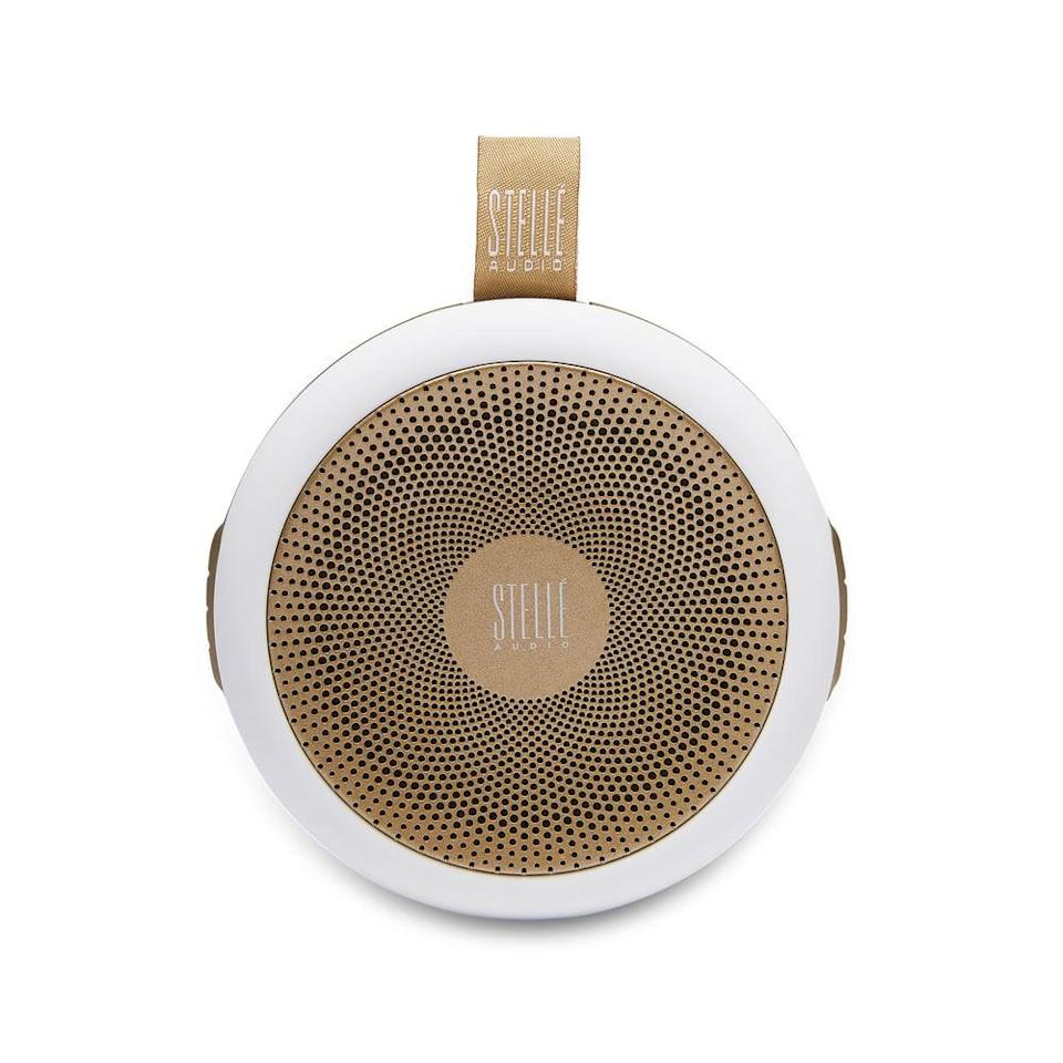 <p>Clip this <span>Stellé Go-Go Speaker</span> ($129) onto your bike or stroller and listen to your favorite podcasts on the go.</p>