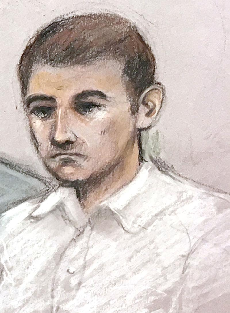 A court sketch of Jack Renshaw, who plotted to kill West Lancashire MP Rosie Cooper. The convicted Neo-Nazi has also been banned (Photo: PA Archive/PA Images)