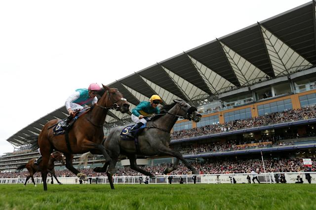 Horse Racing - Royal Ascot - Ascot Racecourse, Ascot, Britain - June 22, 2017 Olivier Peslier wins the 3.40 Ribblesdale Stakes on Coronet Action Images via Reuters/Matthew Childs