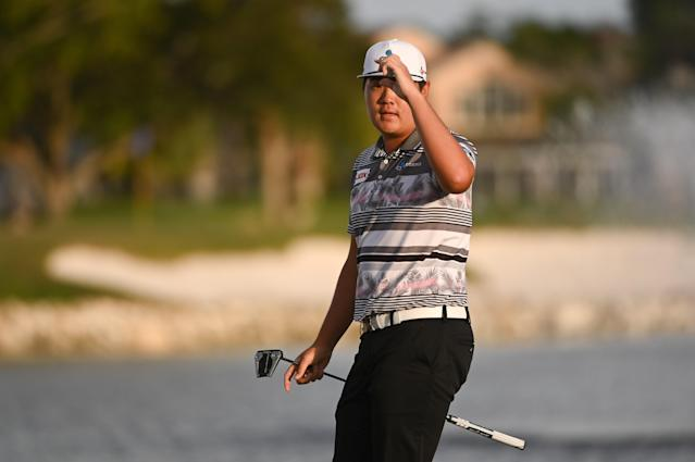 """<h1 class=""""title"""">The Honda Classic - Final Round</h1> <div class=""""caption""""> PALM BEACH GARDENS, FL - MARCH 01: Sungjae Im of South Korea tips his hat to fans on the 18th green during the final round of The Honda Classic at PGA National Champion course on March 1, 2020 in Palm Beach Gardens, Florida. (Photo by Ben Jared/PGA TOUR via Getty Images) </div> <cite class=""""credit"""">Ben Jared</cite>"""