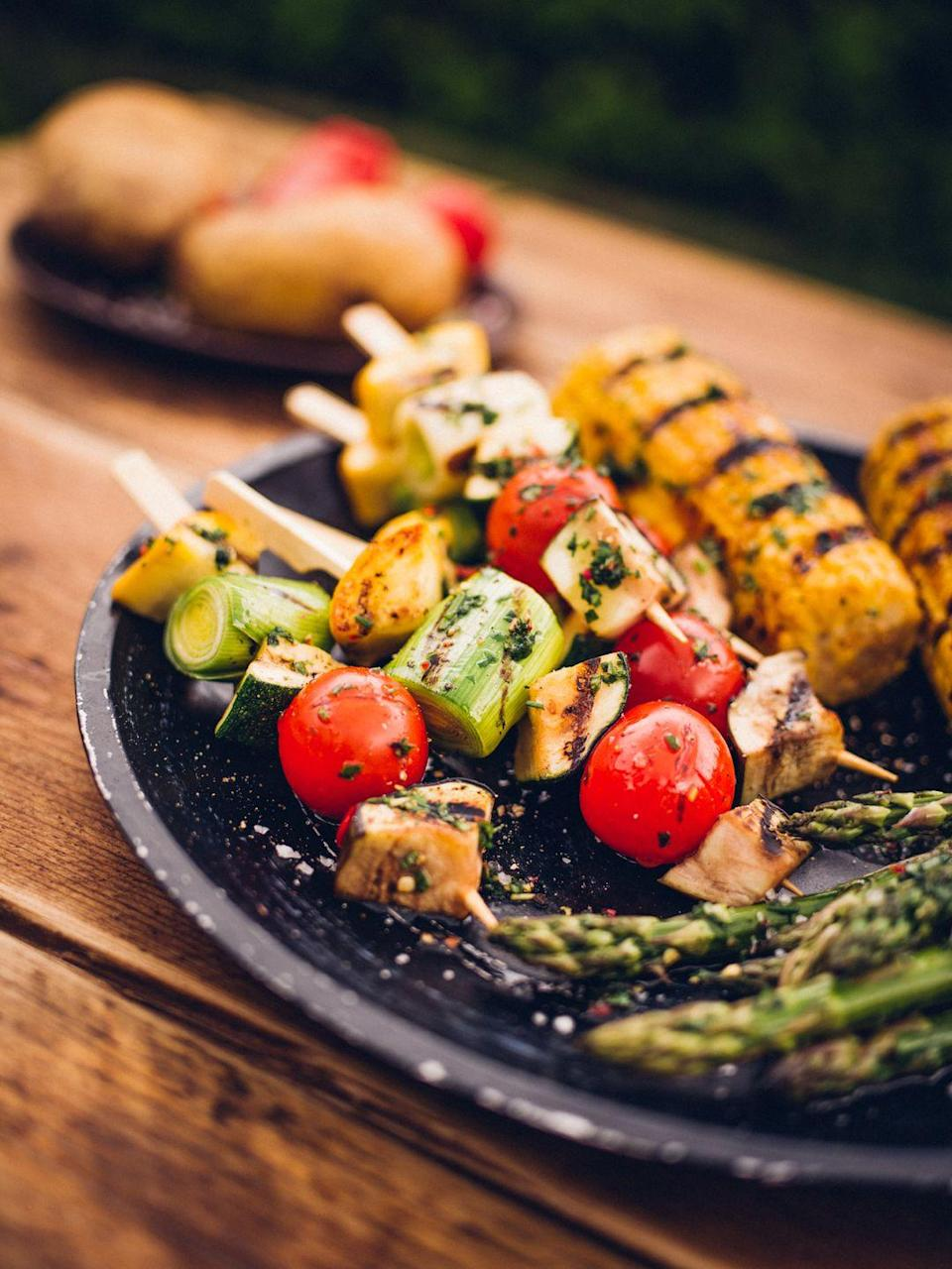 <p>Make sure you do that extra bit of prep before your BBQ and have a big bowl of marinade next to you to brush onto any of your veggies whilst they're charring away on the grill. </p><p>You can use any flavours you like. I personally love either a curried plant-based yoghurt marinade or a herby lemon mix – they both massively enhance the flavour of the veggies.</p>