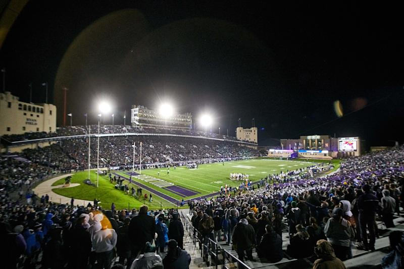 EVANSTON, IL - NOVEMBER 03: A general view of Ryan Field in action during a football game between the Northwestern Wildcats and the Notre Dame Fighting Irish on November 3, 2018 at Ryan Field in Evanston, Illinois. (Photo by Robin Alam/Icon Sportswire via Getty Images)