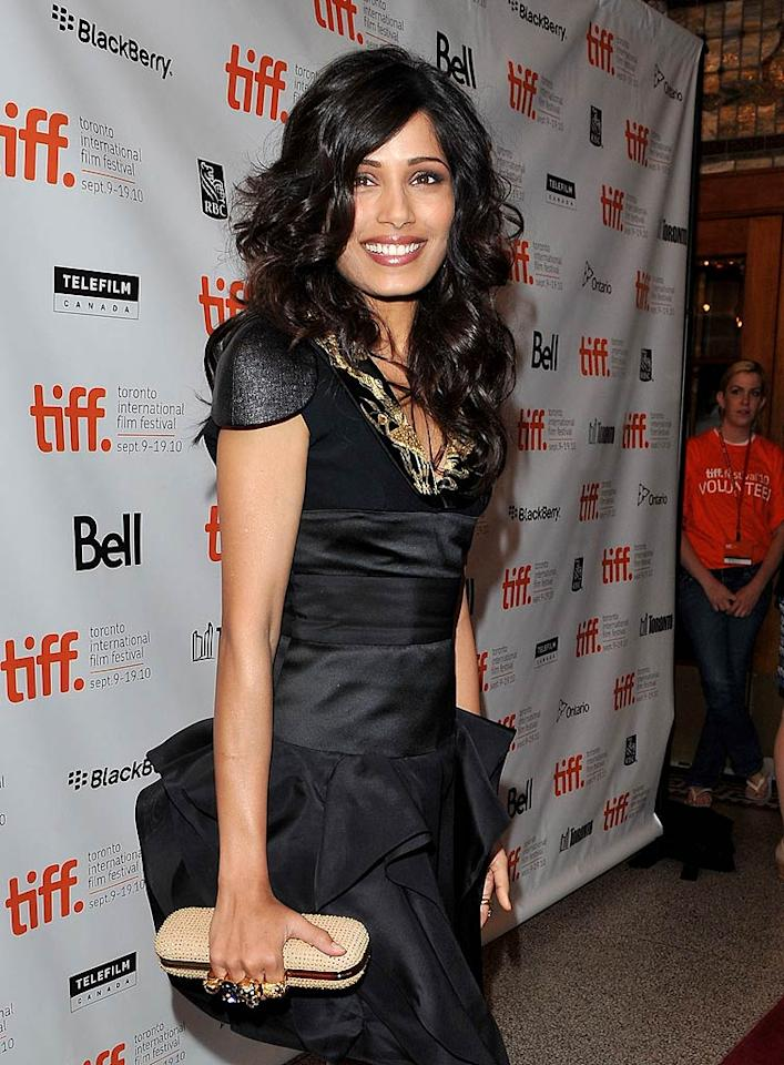 "October 18: Freida Pinto turns 26 George Pimentel/<a href=""http://www.wireimage.com"" target=""new"">WireImage.com</a> - September 12, 2010"