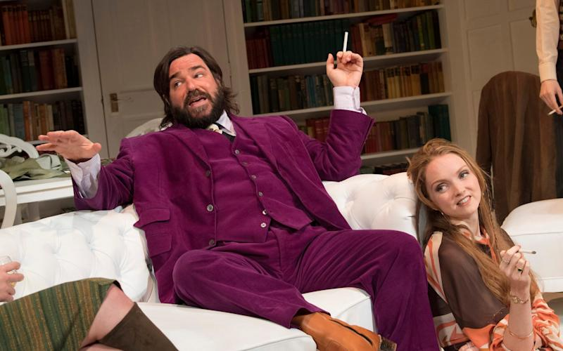 Matt Berry and Lily Cole in The Philanthropist at the Trafalgar Studio Theatre - amx