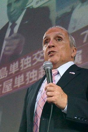 Former telephone company employee Tony Marano is seen at a speaking engagement in Toyko