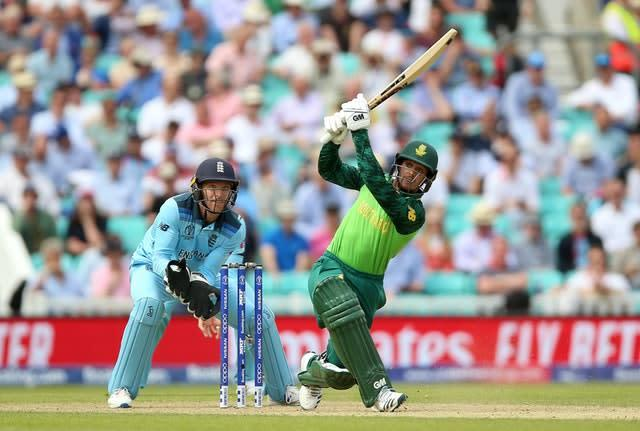 Quinton De Kock's 68 is South Africa's highest score of the World Cup (Nigel French/PA)