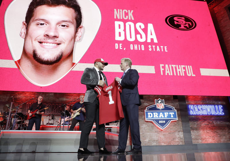 Nick Bosa was the second pick of last year's NFL draft. (AP Photo/Mark Humphrey)