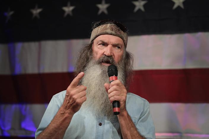 Phil Robertson speaks at a campaign event for Roy Moore on Sept. 25, 2017, in Fairhope, Ala. (Photo: Scott Olson/Getty Images)